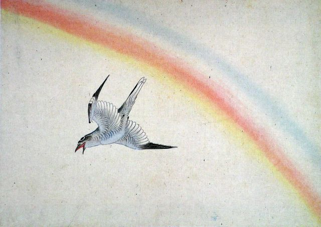 Hokusai, A Cuckoo and Rainbow