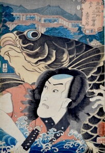 Kuniyoshi, 36 Fashionable Restaurants of the Eastern Capital - The Carpenter Rokusaburo