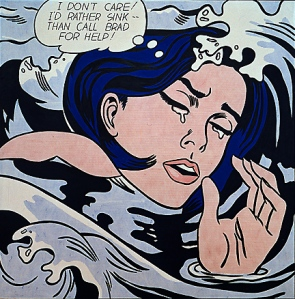 Roy Lichtenstein, Drowning Girl