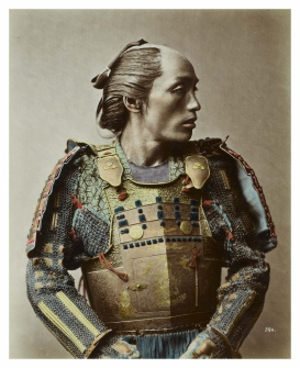Photograph of a samurai by Stillfried, 1875