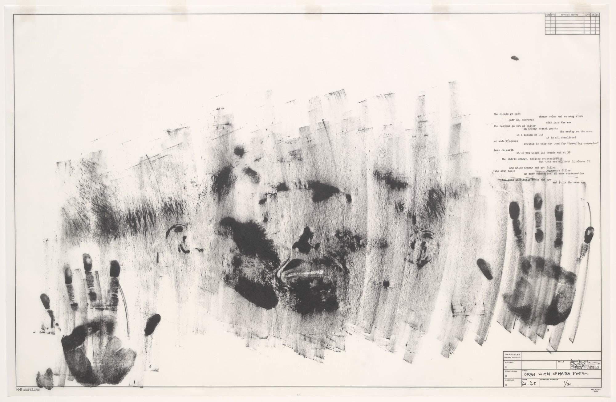 Jasper Johns, Skin with O'Hara Poem. 1964/65